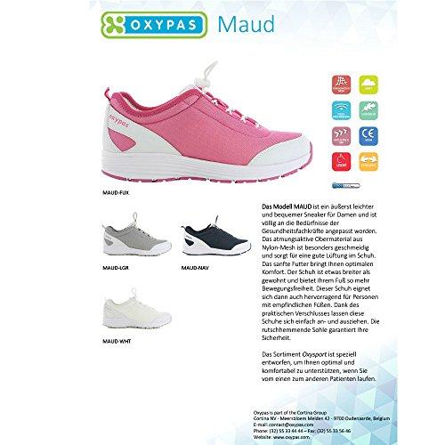 Oxypas Maud Ladies Scarpe Da Lavoro Professionali Per Medicina / Cura / Gastro White (fux)