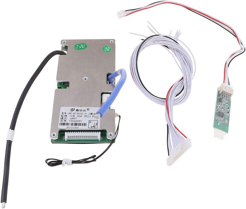 Myya Lithium Battery Protection Board Avec Bluetooth 14S BMS Mobile Inteligente ESTÁTICO Corriente COMPOSANTES 48V Protección Intelligente