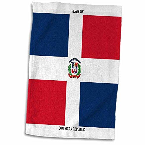 3d Rose bandera de la República Dominicana Twl 211398–Toalla de 1, 38.1x 55.9cm