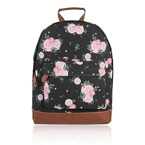 Craze London - Bolso mochila  de Lona para mujer negro