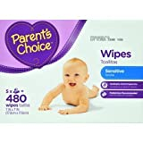Parent's Choice Sensitive Wipes, 480 sheets