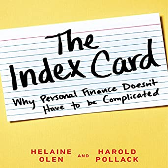 Amazon com: The Index Card: Why Personal Finance Doesn't