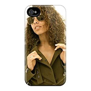 Perfect Hard Phone Cover For Iphone 4/4s With Support Your Personal Customized Colorful Alicia Keys Pictures ChristopherWalsh