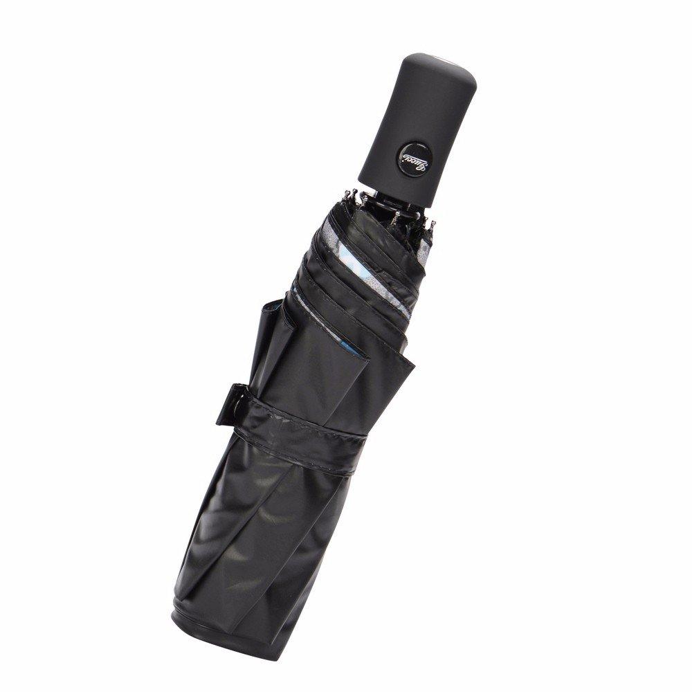 Paraguas - Automatic Umbrella Hembra Negro Pegamento Uv Sunscreen Sombrilla Plegable Doble Diosa De Setenta Por Ciento De Los Estudiantes,Brown: Amazon.es: ...