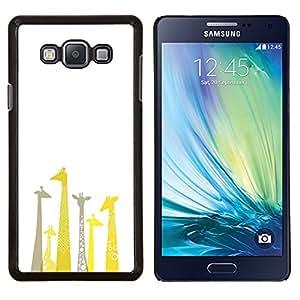 Stuss Case / Funda Carcasa protectora - Jirafa Dibujo minimalista Limpio Blanca - Samsung Galaxy A7 ( A7000 )