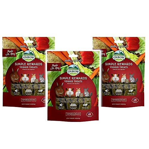 Oxbow Simple Rewards Veggie Treats For Rabbits, Guinea Pigs, Hamsters and Other Small Pets