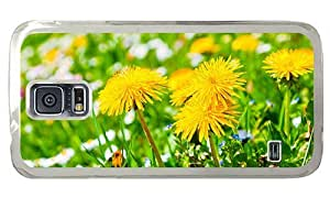 Hipster Samsung Galaxy S5 Case customize dandelions PC Transparent for Samsung S5