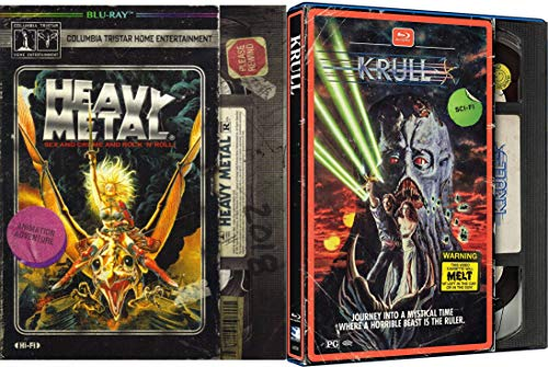 Journey Into A Mystical Time With Sex Crime & Rock 'N' Roll The Ultimate Fantasy SciFi Collection: Krull (EXCLUSIVE VHS PACKAGING) + Heavy Metal (EXCLUSIVE VHS PACKAGING) Blu Ray Double Feature Bundle ()