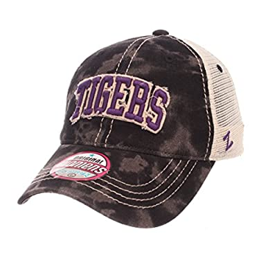 Zephyr LSU Tigers WOMEN'S Black Wash Dixie Mesh Adj. Slouch Hat Cap by Zephyr