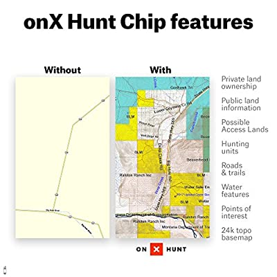 onX Hunt Michigan: Digital Hunting Map for Garmin GPS + Premium Membership for Smartphone and Computer - Color Coded Land Ownership - 24k Topo - Hunting Specific Data