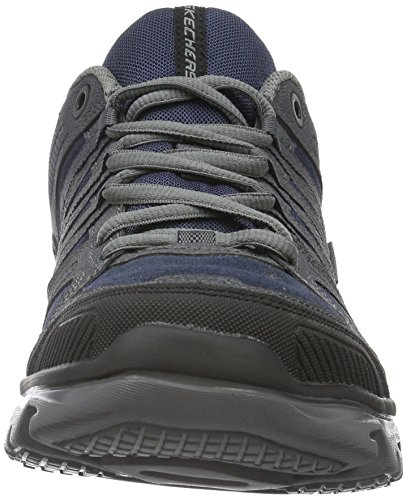 Skechers Men's L-Fit Establish Trainers, Black Blue (Nvy)