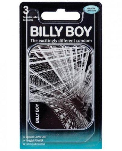 Billy Boy Tin Pack Condoms Box Of 3