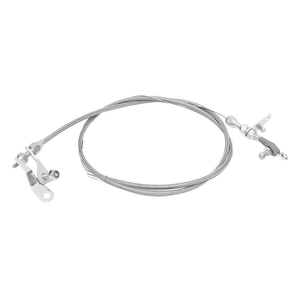 Homyl 2012 Stainless Steel Braided Kickdown Cable Detent for Ford C6 Transmission