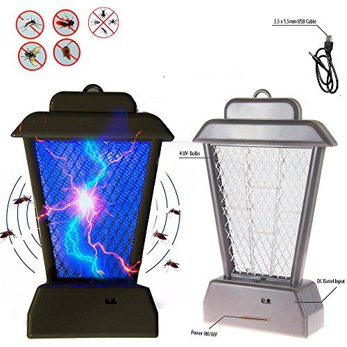 New 4 UV Bulbs Insect Controller Mosquito Bug Zapper UV Light Fly Pest Bug Trap Lamp Killer