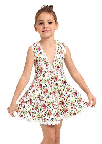 Ephex Little Baby Girls Dress Rose Flower Holiday Dresses (Little Mass Sundress)