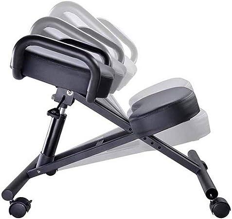 Tabouret Chaise de bureau ergonomique orthop/édique /à genoux avec structure en m/étal PU /Épaisseur Assise rembourr/ée