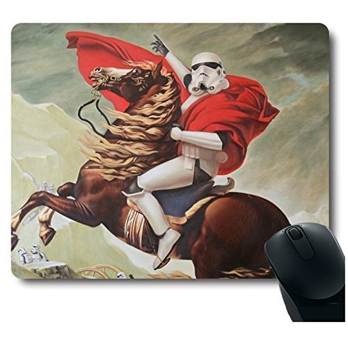 Palette Cool Soldier Riding a Horse Mouse Pad Funny Awesome Customized, Rectangle ()