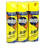 PLEDGE FURNITURE POLISH LEMON SCENT 17.7OZ 3 PACK