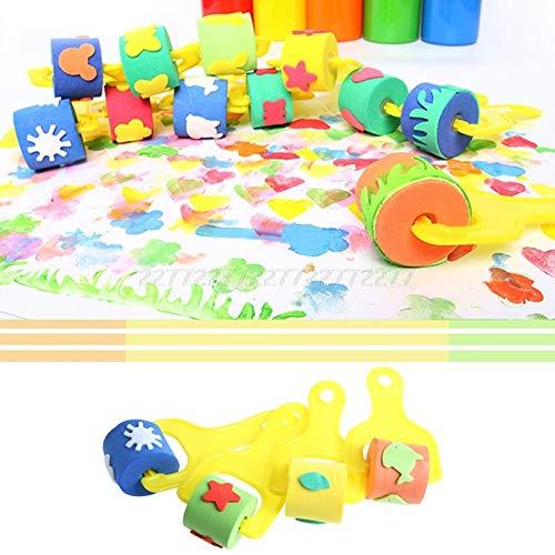 (Diamond Girl With Cat - Sponge Roller Stamper Foam Paint Crafts Stamps Kids Children Eva Toys Diy N01 - Kids Jumbo Large Galaxy Pretty Nail Template Tool Stencils Monster)