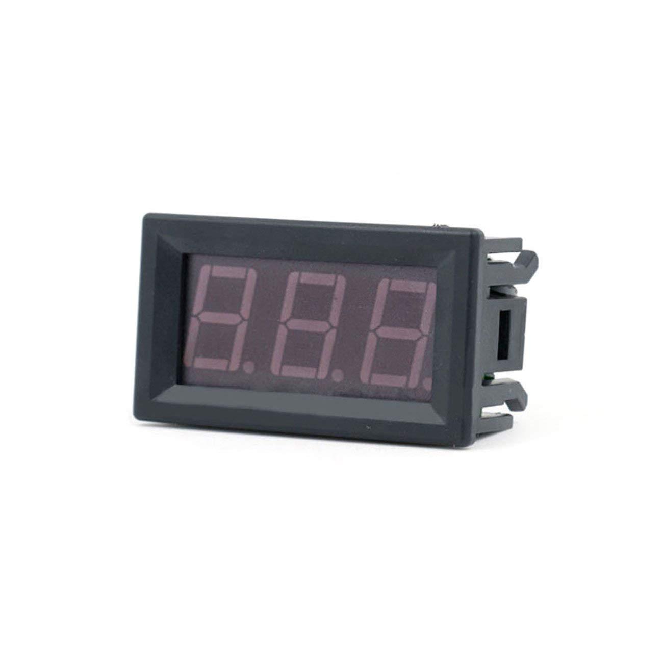 DC4.5V-30.0V 0.56in 2 Alambre LED Pantalla Digital Volt/ímetro Medidor de Voltaje El/éctrico Volt Tester para Auto Bater/ía Motocicleta Rojo Rojo