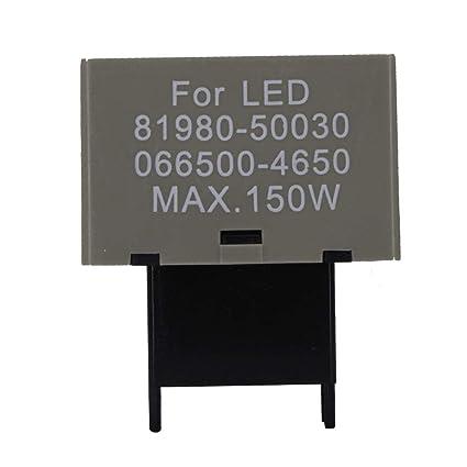 amazon com huiqiaods 8 pin 81980 50030 066500 4650 cf18 (lm449) ledamazon com huiqiaods 8 pin 81980 50030 066500 4650 cf18 (lm449) led bulb electronic flasher assy relay fix for lexus scion or toyota led turn signal light