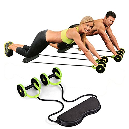 Sungmor Sport Core Double AB Power Wheel Roller Pull Rope Fitness Abdominal  Exercises Equipment Coaster Waist de0475fd141