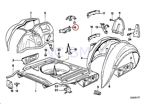 Bmw Exhaust Bracket - BMW Genuine Rear Bracket Exhaust