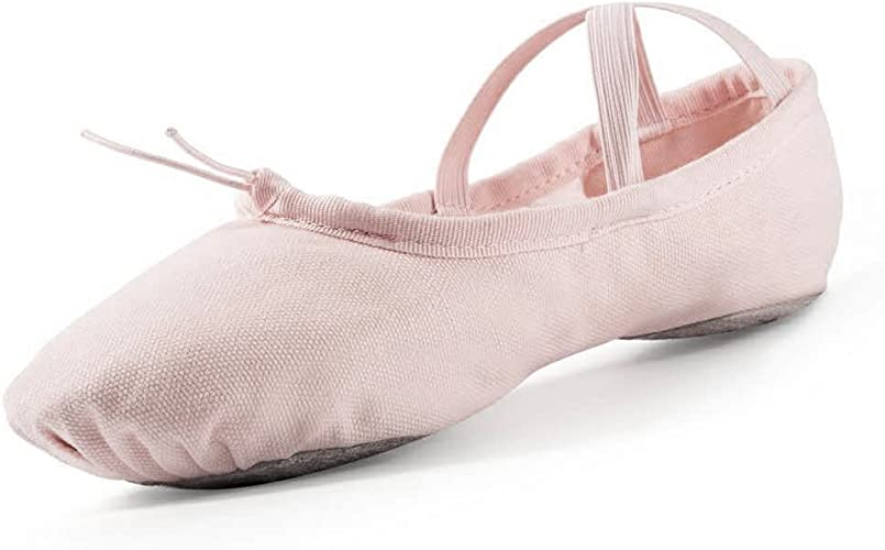 Amazon.com: Zapatillas de ballet para niñas, color rosa ...
