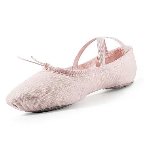 Big Kid Shoe Size To Women S.Ballet Shoes Girls Pink Canvas Dance Slipper Gymnastics Yoga Shoe For Big Kid Little Kid Toddler Women