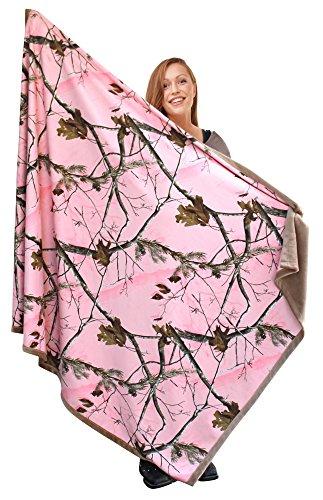 Realtree Pink Women's Luxury Throw Faux Suede Blanket, 56x70