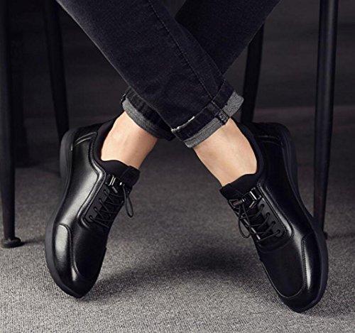 6CM Occasionnels pour Chaussures Invisibles ZFNYY Hommes Chaussures Chaussures Hommes Ceinture Mode Augmenté Black xq5660I