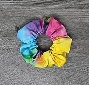 Scrunchies - Tie-dye Summer Top Knot Scrunchies - 90s Hair - Hair Tie