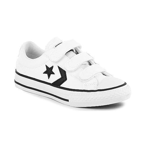 zapatos converse niño blanco