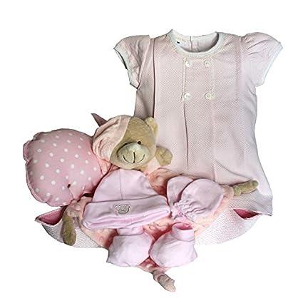 Set de regalo recién nacido - Paseo ballena rosa - cesta regalo bebé ...