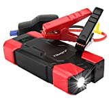 accumulator battery car - Vikeepro Portable Car Jump Starter 800A Peak 18000mAh Battery Booster Vehicle Emergency Kit, (up to 6.0L Gas or 5.0L Diesel) Auto Battery Pack Phone Power Bank with LCD Display and LED Flashlight SOS