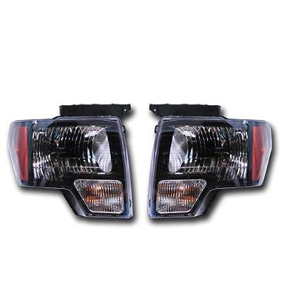 OEM Ford F-150 Black Headlight Pair - SVT Raptor, Harley Davision AL3Z13008AJ
