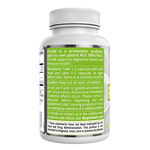 P3-OM - Best Probiotics for Women and Men - Dr. Formulated - No Refrigeration Needed - Patented Single Strain - Boosts Immunity - Supports Digestive Health (120) by BiOptimizers (Image #4)