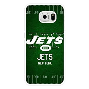 Samsung Galaxy S6 Edge Case, Customized NFL New York Jets Logo White Hard Shell Samsung Galaxy S6 Edge Case, New York Jets Logo Galaxy S6 Edge Case(Only Fit for Galaxy S6 Edge)