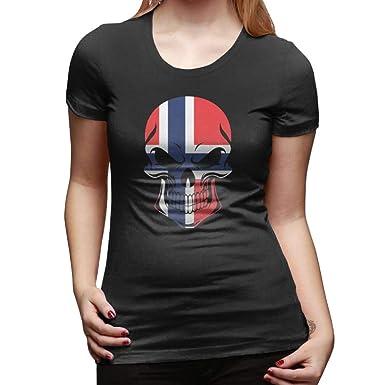 Aiw Wfdnn Women Tee Fashion Short-Sleeve American Flag Ship