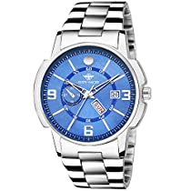 Eddy Hager Blue Day and Date Men's Watch EH-226-BL