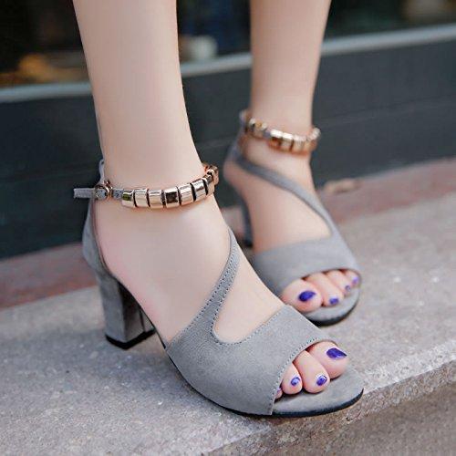 Romain Toe Femmes Avec Dew Rugueuse Étudiants EU40 SHOESHAOGE Bracelet Fente À Sandales High Femme Chaussures Heeled 8w86vF