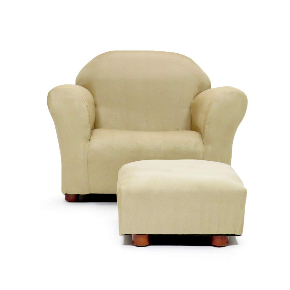 KEET Roundy Child Size Chair with Microsuede Ottoman
