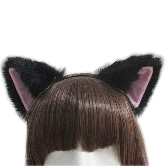 8 Colors Fashion Fur Cat Fox Ears Hairband Anime Cosplay Halloween Hair Hoop G