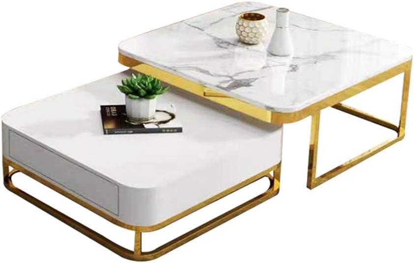 Fabrieksprijs ZRRtables Nordic marmer salontafel, eenvoudige kleine koffietafel met lade voor de woonkamer lichte salontafel hotelkantoor salontafel B nG7e0Gb