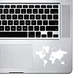 StickAny Palm Series Detailed Earth Sticker for MacBook Pro, Chromebook, and Laptops (White)