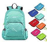 Utizar Lightweight Folding Backpack Gym Bag Foldable Day Backpack Outdoor Bag Travelling Backpack Camping Sports Backpack Shopping Ultra-light Backpack (Light Green)