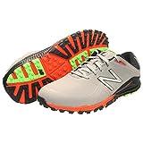 New Balance Men's Minimus Spikeless Golf Shoe, 14 Wide Gray/Orange