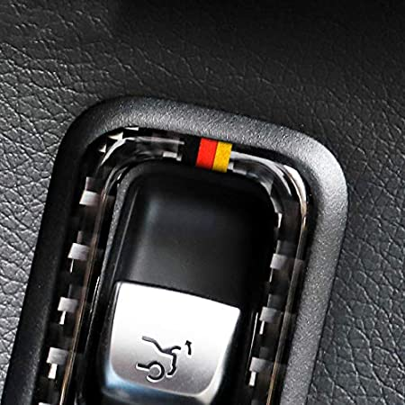 Auto Styling Carbon Fiber Auto Heckkoffer Schalter Steuerknopf Rahmen Aufkleber F/ür Mercedes C Klasse W205 GLC Zubeh/ör A with Color