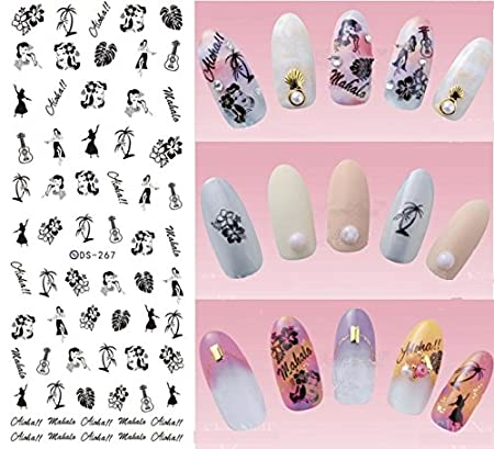 Nail Art Wasser Transfer Sticker Nail Sticker Tattoo Nativen Muster - DS263 Nail Sticker Tattoo - FashionLife