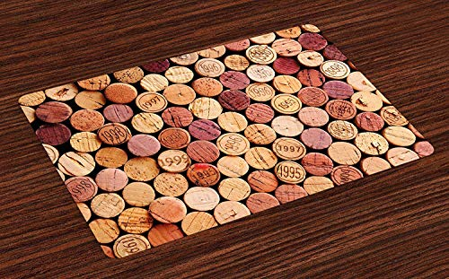 Welcome Door Mats Indoor Non Slip Entrance Rug Mat, Random Selection of Used Wine Corks Vintage Gourmet Taste Liquor, Kitchen Floor Cover Bathroom Carpets Absorbent Bath Area Rugs 18 x 30 inch